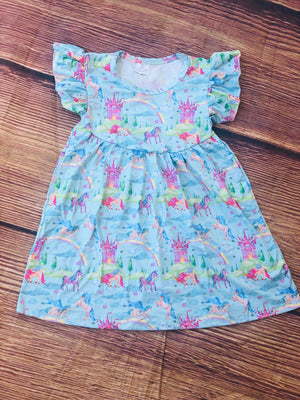UNICORN DREAM MILK SILK DRESS