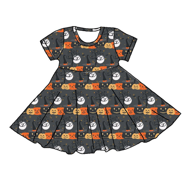 LADIES PUMPKIN TWIRL DRESS - PREORDER