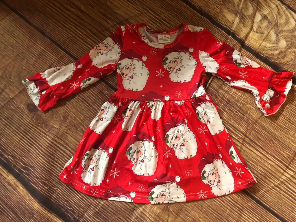 SANTA CLAUS MILK SILK DRESS