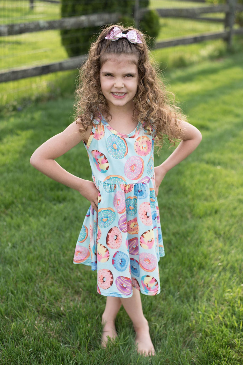 DONUT TANK BOW DRESS