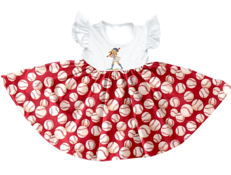 BASEBALL TWIRL DRESS - PREORDER