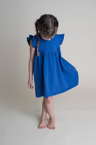 SOLID PEARL DRESS - ROYAL BLUE