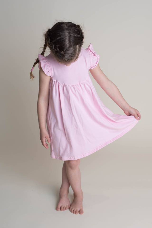 SOLID PEARL DRESS - BLUSH