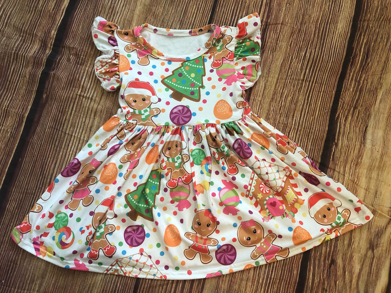 GINGERBREAD COOKIE MILK SILK DRESS