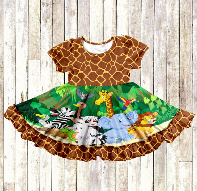 JUNGLE THEME TWIRL DRESS - PREORDER