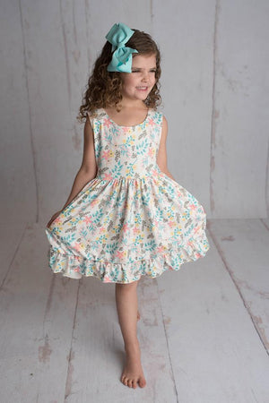ADELAIDE FLORAL BOW DRESS