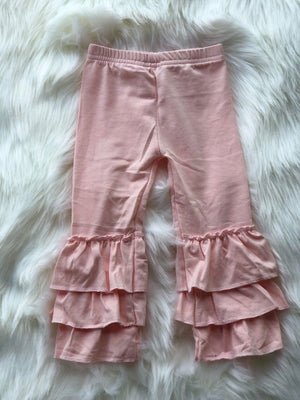 RUFFLE PANTS - LIGHT PINK