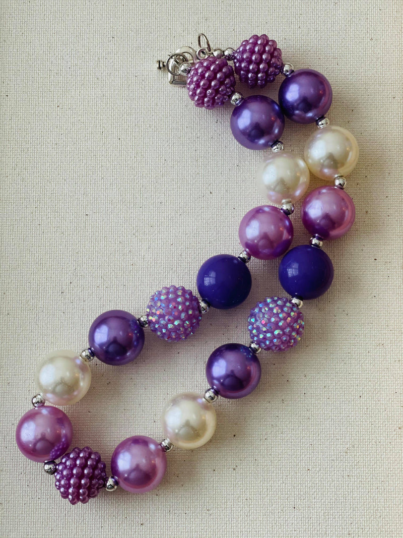 PURPLE BUBBLEGUM  NECKLACE