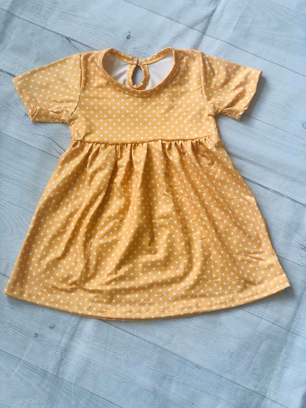 POLKA DOTS MILK SILK DRESS - YELLOW
