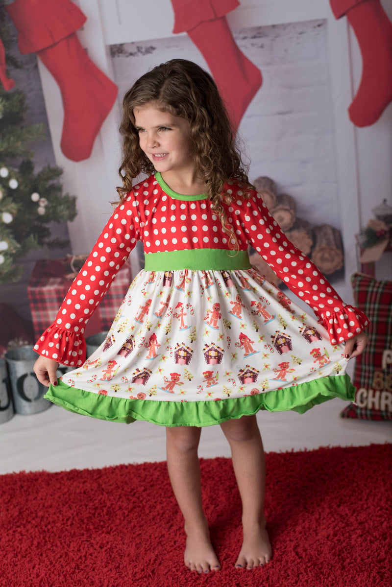 GINGERBREAD MAN & HOUSE MIA DRESS