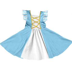 PRINCESS INSPIRED TWIRLY DRESS - BLUE- PREORDER