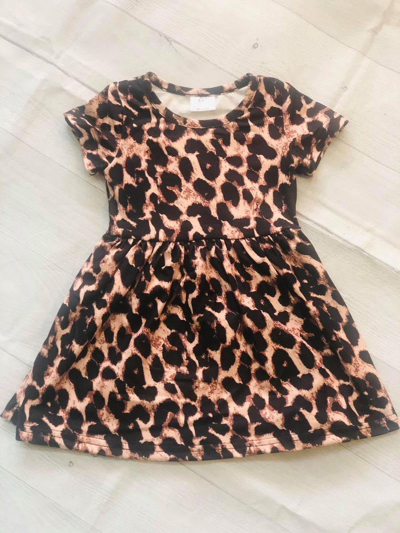 LEOPARD MILK SILK DRESS
