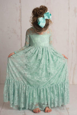LACE MAXI DRESS - MINT