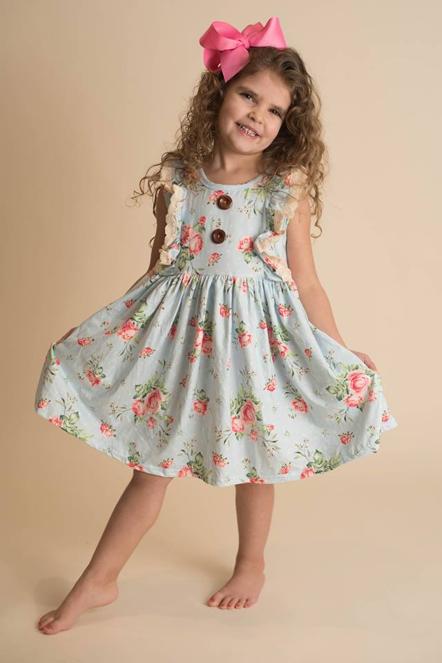 AVERY LACE FLORAL DRESS