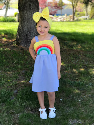RAINBOW DRESS - BLUE