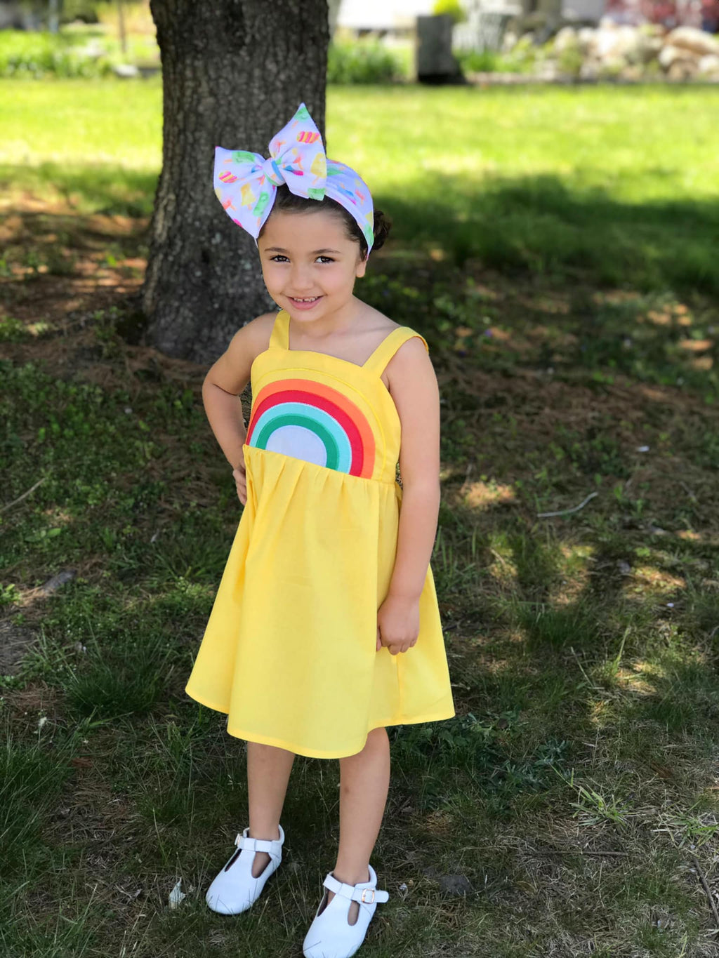 RAINBOW DRESS - YELLOW