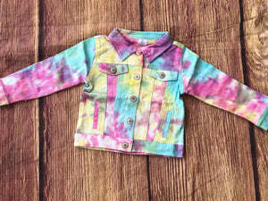 DENIM TYE DYE JACKET