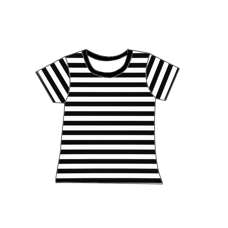 BLACK AND WHITE STRIPE MILK SILK SHIRT - PREORDER