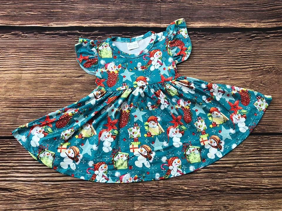 SNOWMAN TWIRL DRESS