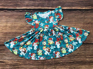 SNOWMAN TWIRLY DRESS