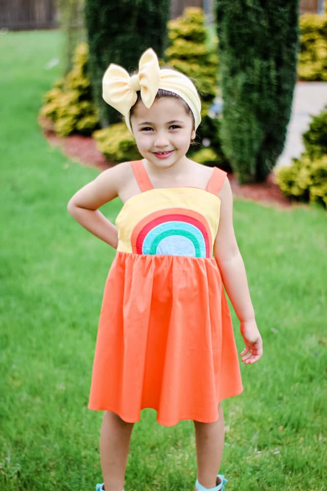 RAINBOW DRESS - ORANGE