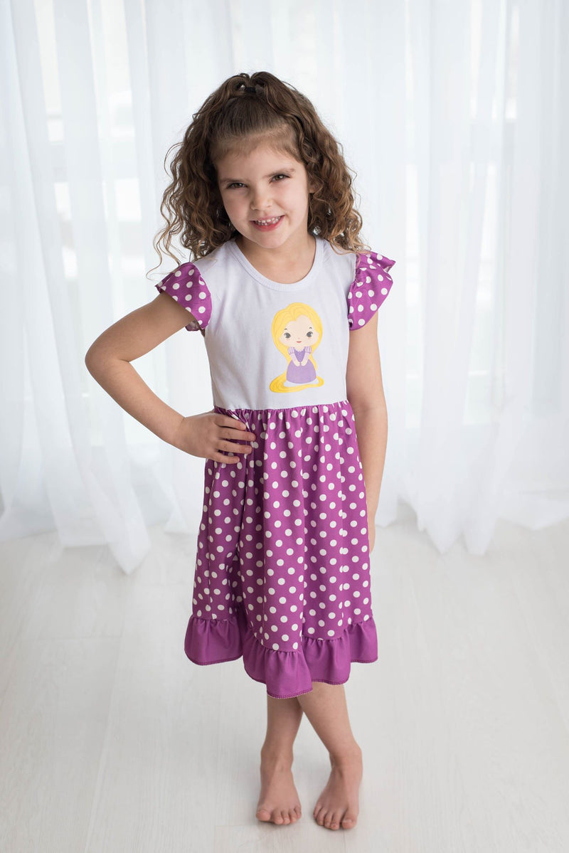 LONG HAIRED PRINCESS COLLECTION  DRESS M1
