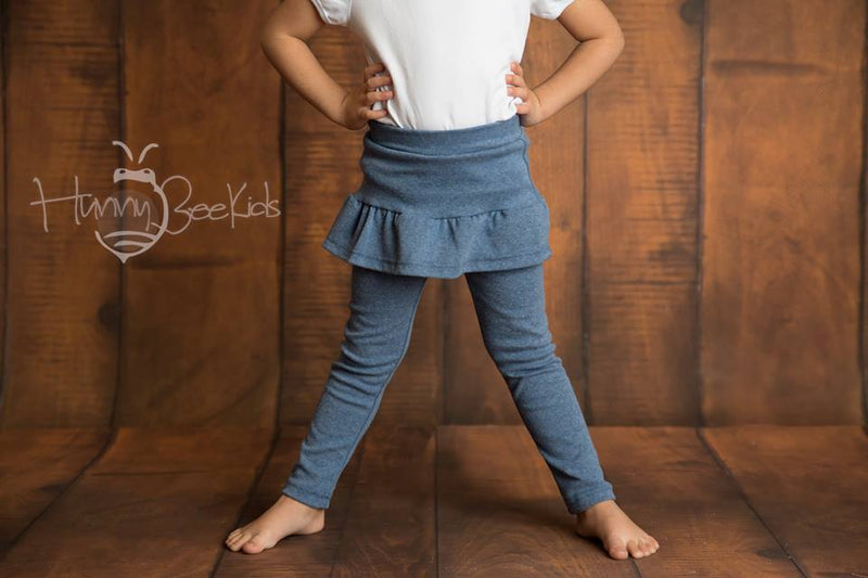 SKIRT LEGGINGS - DENIM BLUE