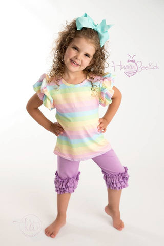 RAINBOW FLUTTER TOP