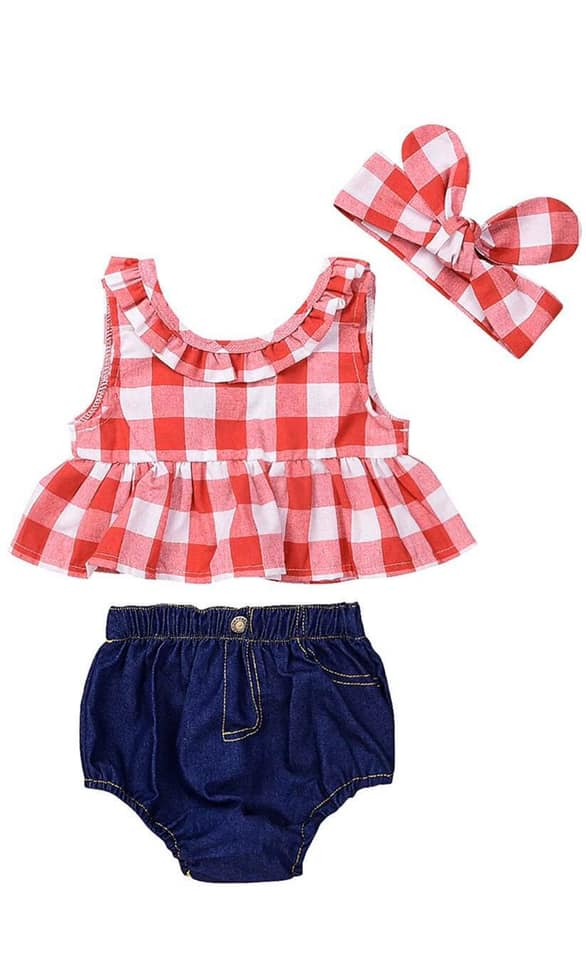 SAM GINGHAM SET