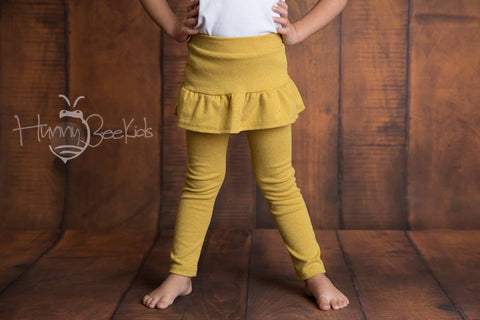 SKIRT LEGGINGS - MUSTARD