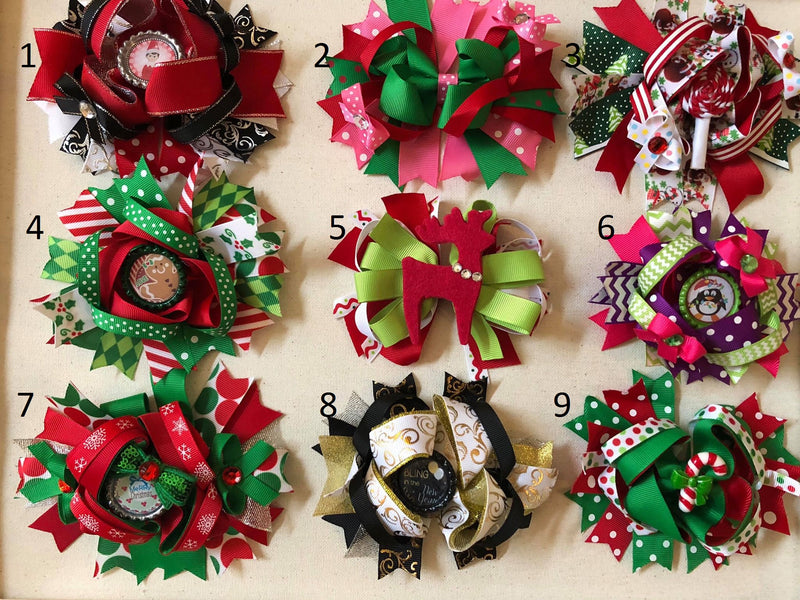 CHRISTMAS & NEW YEAR HAIR BOWS