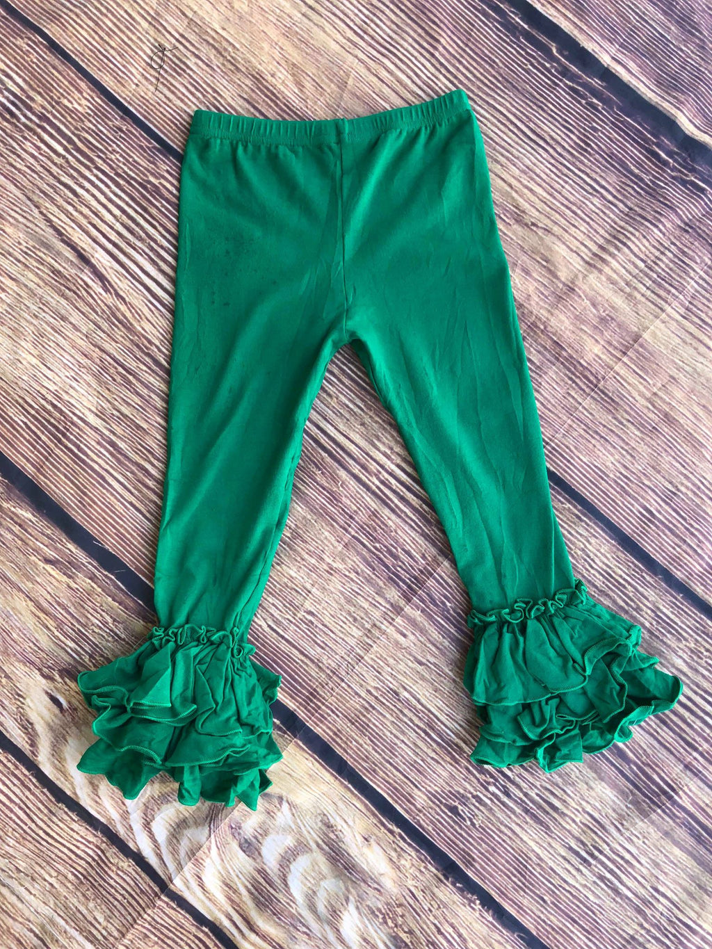 RUFFLE PANTS - GREEN