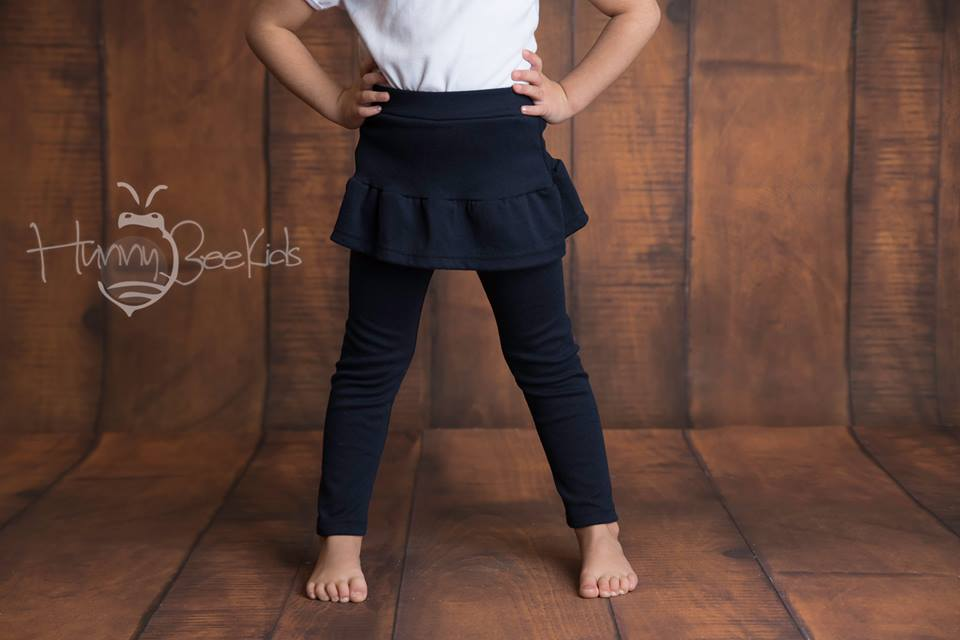 SKIRT LEGGINGS - NAVY BLUE