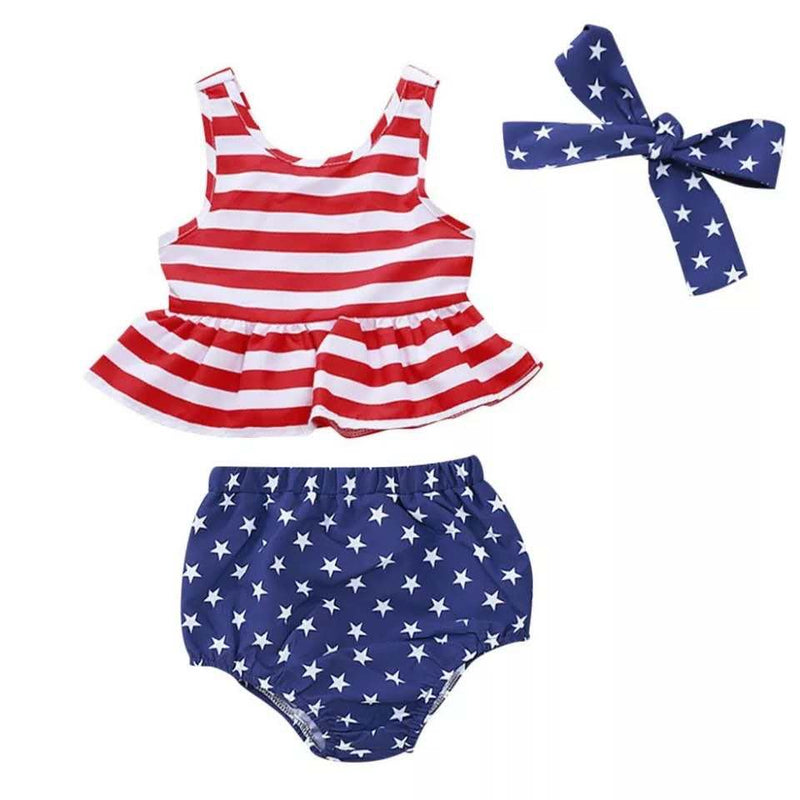 STAR & STARS TOP & BLOOMER SET