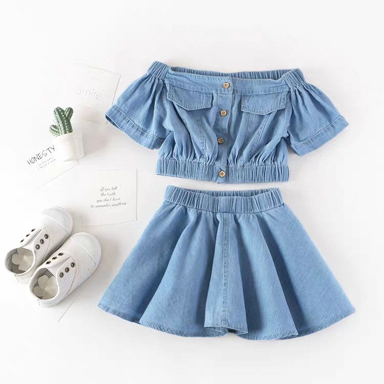 ERIN DENIM SKIRT SET
