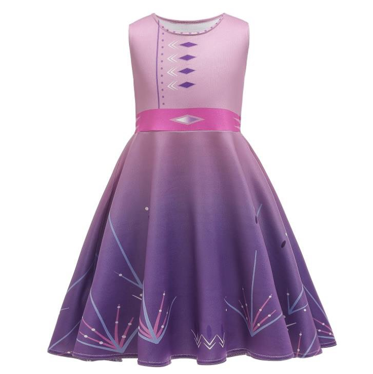 ICE QUEEN MILK SILK DRESS PURPLE/PINK PRESALE