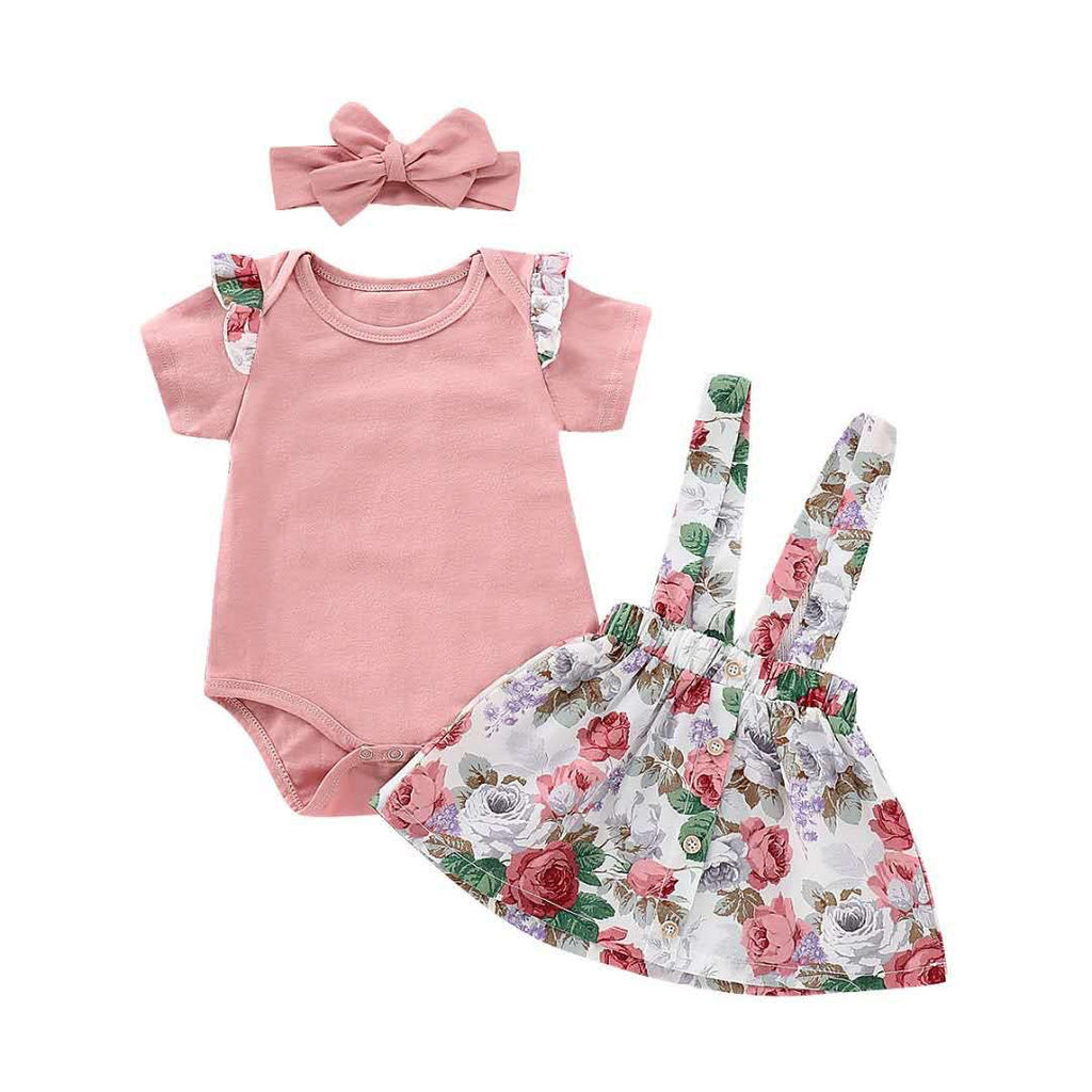 FLORAL TOP AND SKIRT SET