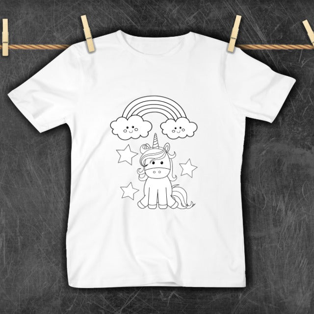 COLOR YOUR OWN TSHIRT - UNICORN - PREORDER