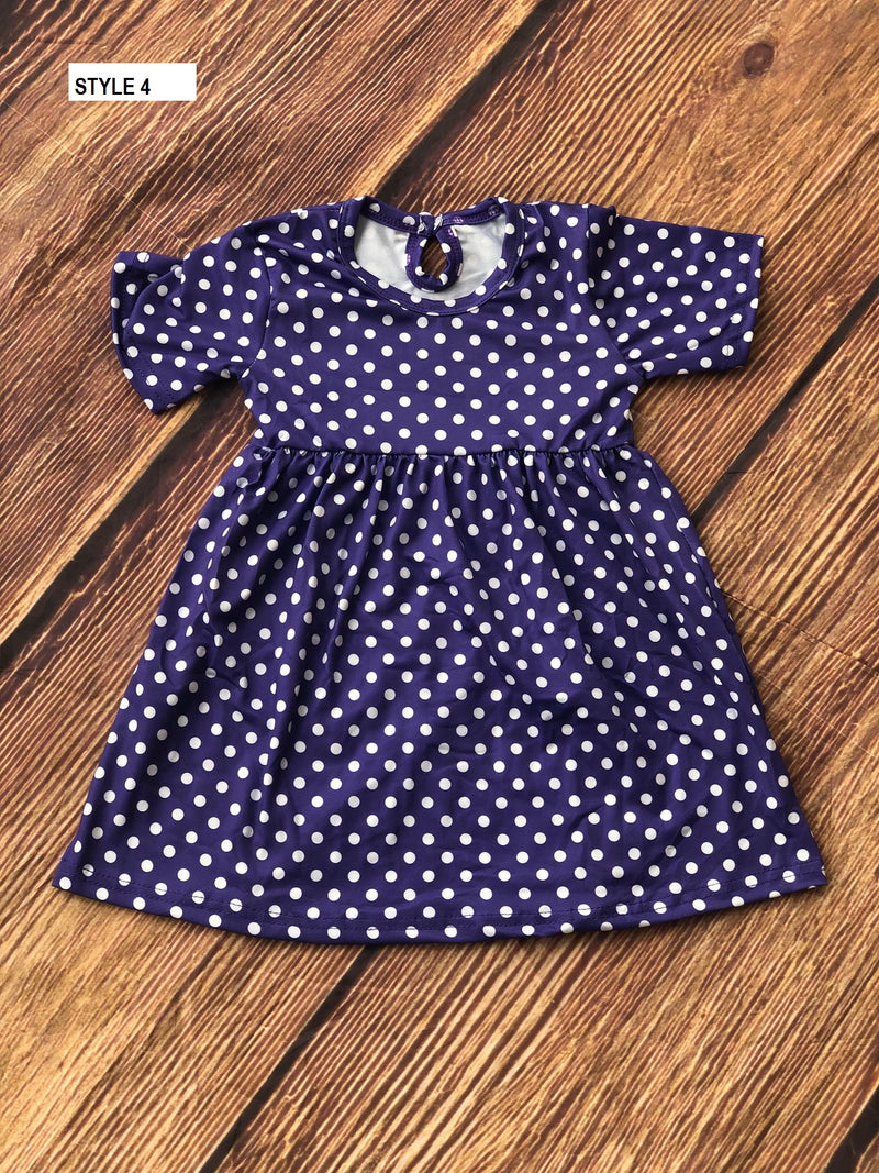 POLKA DOTS MILK SILK DRESS - DARK PURPLE