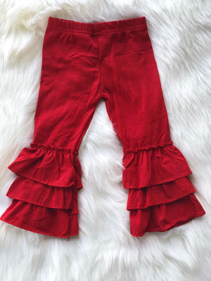 RUFFLE PANTS - RED