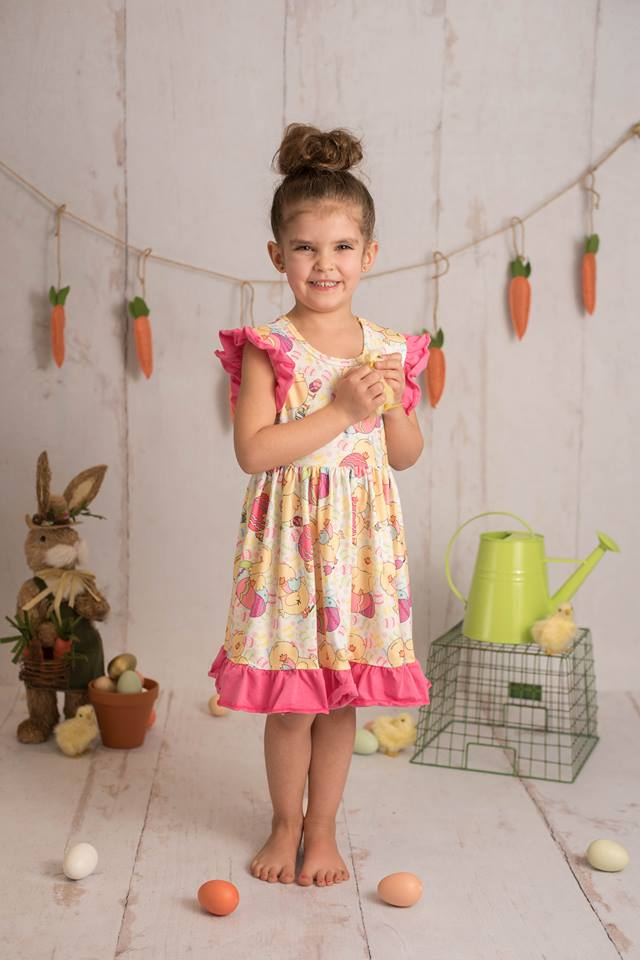 EASTER CHICK FLUTTER DRESS