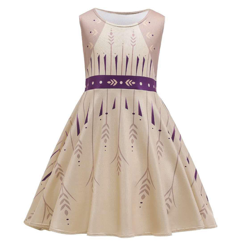 ICE PRINCESS MILK SILK DRESS PURPLE/IVORY PRESALE