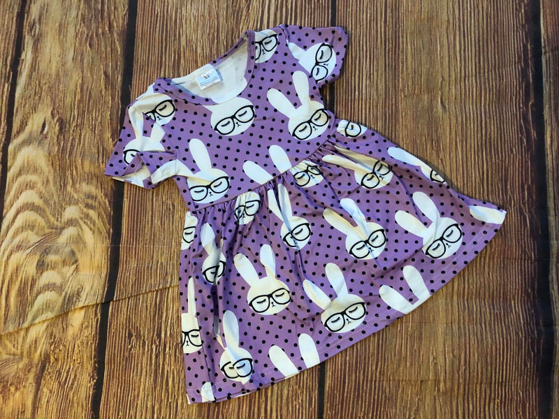 PURPLE BUNNY MILK SILK DRESS