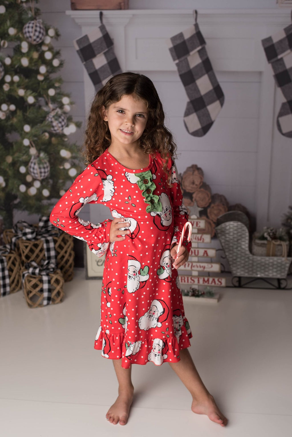 CHRISTMAS SANTA NIGHTGOWN