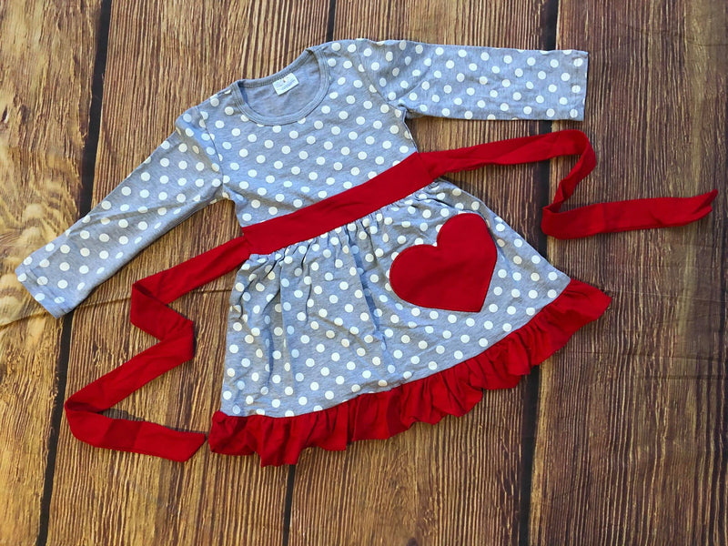VALENTINE HEART POLKA DRESS