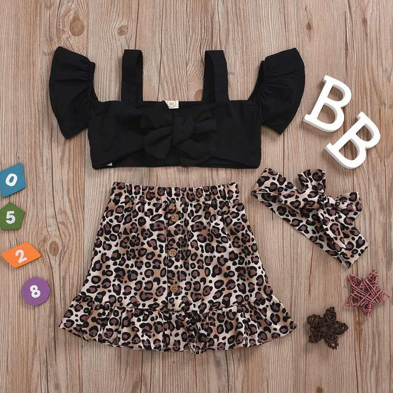ANIMAL PRINT TOP AND SKIRT SET