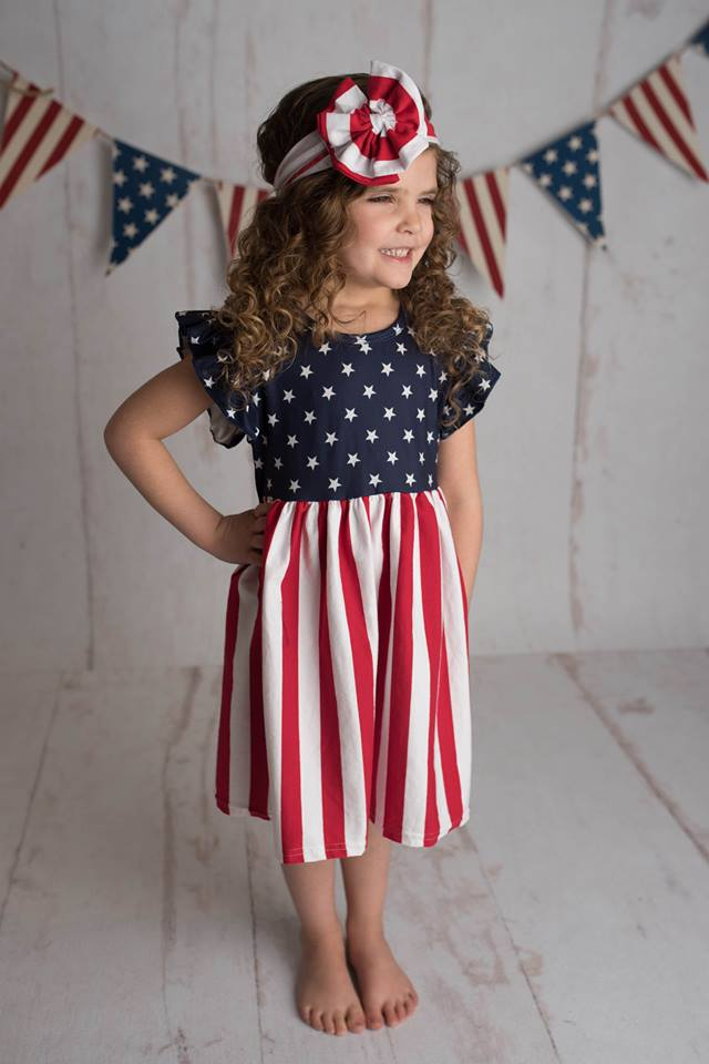 PATRIOTIC STAR DRESS