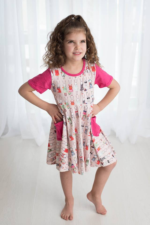BUNNY TWIRL DRESS WITH POCKETS