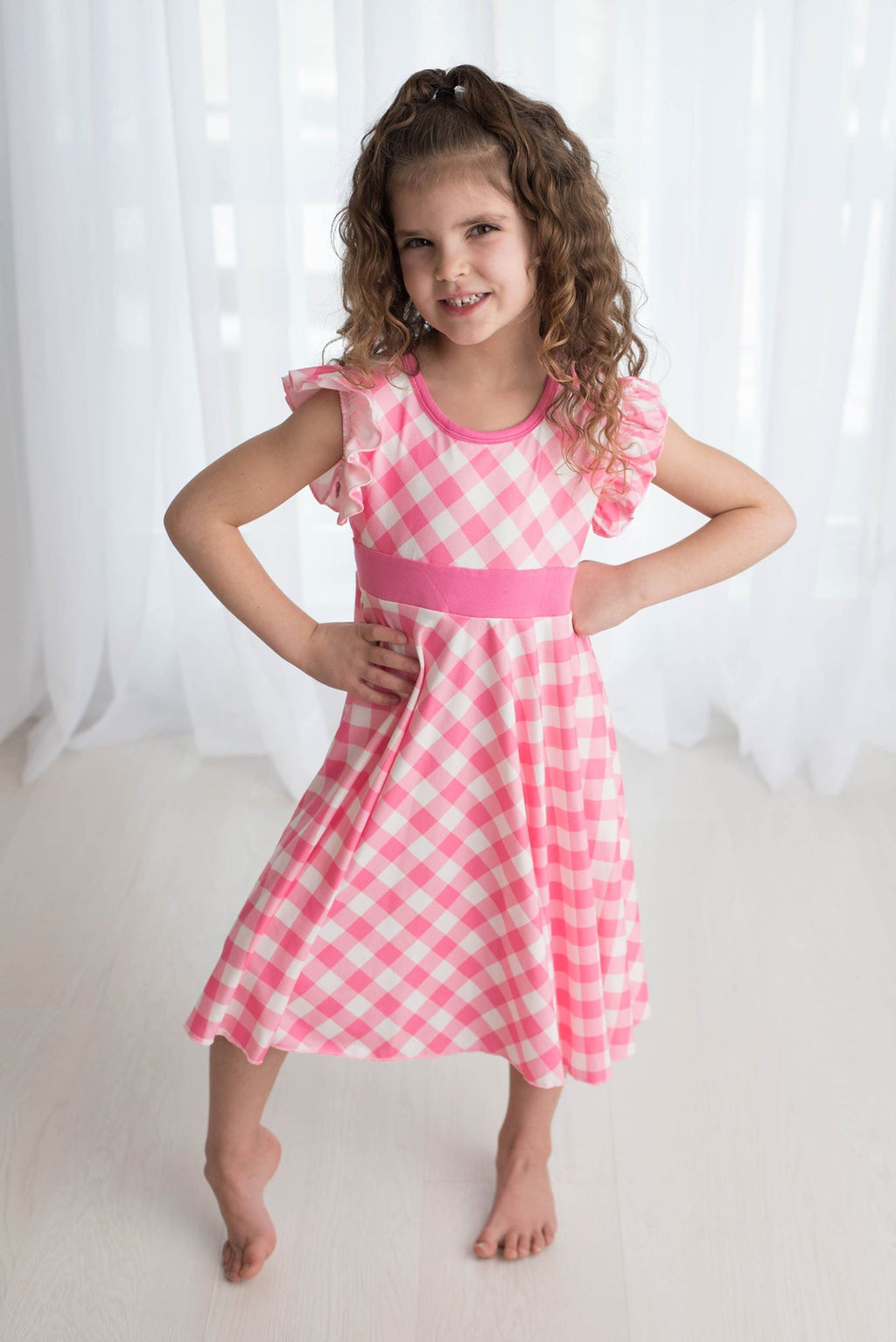 GINGHAM TWIRL DRESS