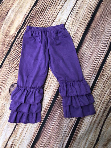 RUFFLE PANTS - PURPLE